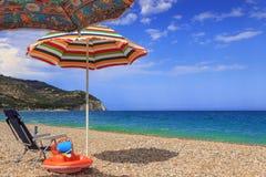 Gargano coast: Piana di Mattinata  beach.Italy (Apulia). Royalty Free Stock Images