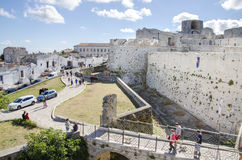 Gargano, Italy 17 August 2016 - walls and moat of the castle of Royalty Free Stock Images
