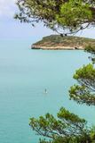 Gargano-Küste: Strand Baia di Campi, Vieste-& x28; Apulia& x29; ITALIEN Lizenzfreies Stockfoto