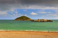Gargano wybrzeże: Baia Di Campos plaża, Vieste-& x28; Apulia& x29; WŁOCHY Zdjęcie Royalty Free