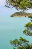 Garganokust: Baia Di Campi strand, vieste-& x28; Apulia& x29; ITALIË Royalty-vrije Stock Foto