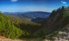 A garganta é um ` do inferno do ` nas montanhas Carpathian Gorgany Ucrânia imagem de stock