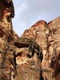 Garganta al Petra imagen de archivo libre de regalías