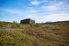 Garganta Asbyrgi, Islândia Fotografia de Stock Royalty Free