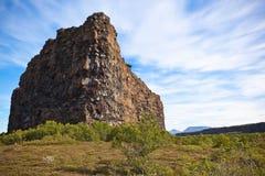 Garganta Asbyrgi, Islândia Imagem de Stock