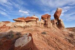 Garganta azul, seção da lavagem de Moenkopi no Arizona do nordeste Fotografia de Stock