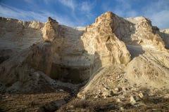 Garganta bonita da montanha no deserto Boszhira no platô de Ustyurt, Cazaquistão fotografia de stock royalty free
