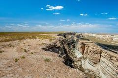 Garganta bonita no platô de Ustyurt uzbekistan Fotos de Stock