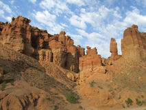 A garganta Charyn (Sharyn) eleva-se no vale dos castelos Imagem de Stock Royalty Free