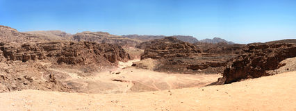 A garganta colorida, Egipto. Panorama. Fotografia de Stock Royalty Free