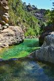 Garganta da água em Córsega Imagens de Stock Royalty Free