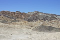 Garganta da equipe de vinte mulas, o Vale da Morte Imagem de Stock