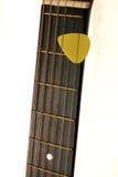 Garganta da guitarra acústica Foto de Stock Royalty Free