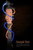 Garganta da guitarra acústica Fotografia de Stock