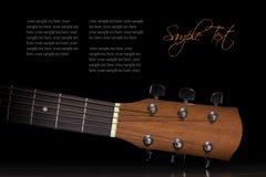 Garganta da guitarra acústica Imagens de Stock Royalty Free