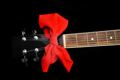 Garganta da guitarra preta Imagem de Stock Royalty Free