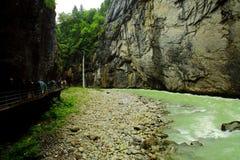 Garganta de Aare en Suiza Imagen de archivo libre de regalías