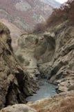 Garganta de Argun em montanhas de Chechnya Imagem de Stock