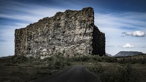 Garganta de Asbyrgi - natureza de Islândia fotografia de stock