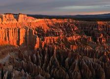 Garganta de Bryce no nascer do sol Fotos de Stock Royalty Free