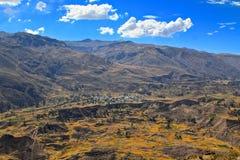 Garganta de Colca, Peru Imagens de Stock