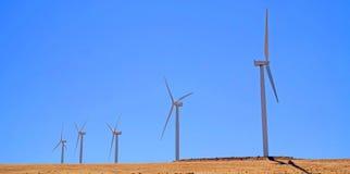 Garganta de Columbia - generadores de viento - panorama Fotos de archivo libres de regalías