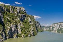 Garganta de Danubio en Djerdap en Serbia Imagenes de archivo