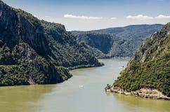 Garganta de Danubio en Djerdap en Serbia Imágenes de archivo libres de regalías