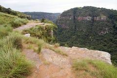 Garganta de desatención del Kloof del sitio de la visión en Durban Suráfrica foto de archivo