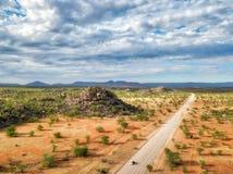 Garganta de Grootberg em Namíbia do norte tomada em janeiro de 2018 fotografia de stock royalty free