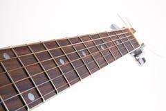 Garganta de guitarra acústica Fotos de Stock Royalty Free