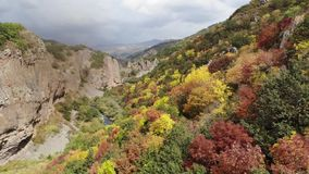 Garganta de Jermuk, Armenia almacen de video