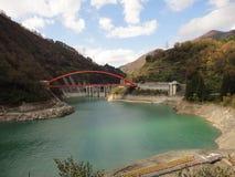 Garganta de Kurobe, montañas de Hida, Japón Fotos de archivo libres de regalías