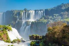 Garganta de las cataratas del Iguazú o de los diablos Imágenes de archivo libres de regalías