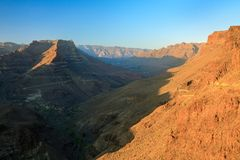 Garganta de montanhas vulcânicas de Gran Canaria Fotografia de Stock Royalty Free