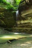 Garganta de Ottawa, parque estadual esfomeado da rocha, Illinois Imagens de Stock