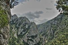 Garganta de Pierre Lys em Pyrenees, França foto de stock