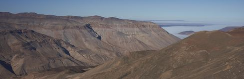Garganta de Rio Camarones no deserto de Atacama imagens de stock royalty free