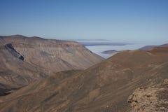 Garganta de Rio Camarones no deserto de Atacama foto de stock