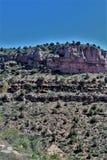 Garganta de Salt River, dentro da reserva indígena branca de Apache da montanha, o Arizona, Estados Unidos foto de stock royalty free