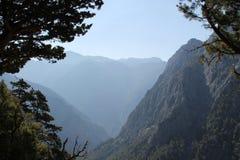 Garganta de Samaria, Creta Fotos de archivo libres de regalías