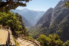 Garganta de Samaria Crete, Grecia foto de archivo libre de regalías