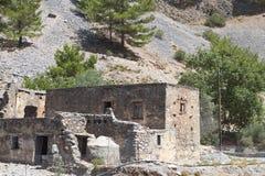 Garganta de Samaria en la isla de Crete en Grecia imagenes de archivo