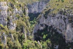 Garganta de Verdon. Foto de archivo