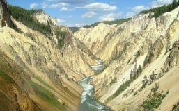 Garganta de Yellowstone Imagem de Stock