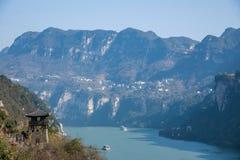 Garganta de Yiling el río Yangzi Three Gorges Dengying Fotografía de archivo libre de regalías