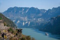 Garganta de Yiling el río Yangzi Three Gorges Dengying Imágenes de archivo libres de regalías