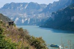 Garganta de Yiling el río Yangzi Three Gorges Dengying Fotografía de archivo
