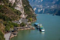 Garganta de Yiling el río Yangzi Three Gorges Dengying Fotos de archivo