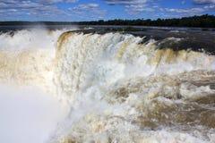 Garganta del Diablo. In Iguazu Falls, Argentina Royalty Free Stock Images